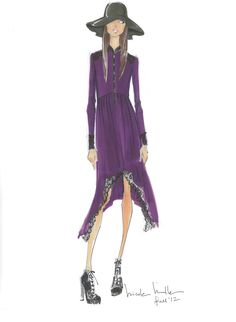 Nicole Miller Sketch Fall 2012
