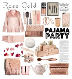 """""""So Pretty: Rose Gold Jewelry"""" by amalieastrid on Polyvore featuring Whiteley, La Perla, Casetify, Hatcher & Ethan, Charlotte Russe, Banana Republic, Maybelline, Royal Albert, Urban Decay and Pier 1 Imports"""