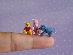 Muffa Miniatures very very tiny Winnie-th-Pooh, Piglet, and Eeyore