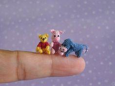 Muffa Miniatures very very tiny Winnie-th-Pooh, Piglet, and Eeyore