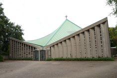 German Post-War Modern — Church St Pius X. (1966-68) in Krefeld, Germany,...