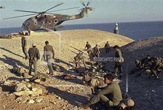 Israeli troops prepare to evacuate the Egyptian Fortress Island of Shadwan in Egypt in January 1970. (AP Photo/Calvert).