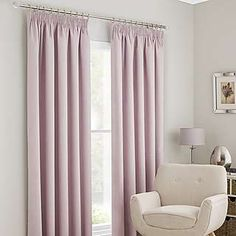 Image result for pencil pleat curtains with leading edge