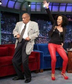 Check out Bill Cosby & Tempestt Bledsoe gettin' their groove on during an impromptu reunion at an interview on the Late Show with Jimmy Fallon.