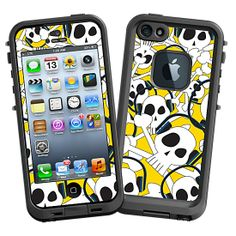 Skull Prince with Beats on Yellow #Skin  for the #lifeproof #iphone5 and #iphone5s #Case by #Skinzy.com
