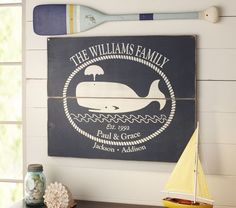 Family Whale Sign from Pottery Barn Kids.