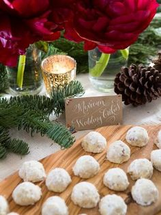 Danish Wedding Cookies Placed In White Liners Make Single Servings So Easy See More Cookie Favor Ideas At One Stop Party Pinterest