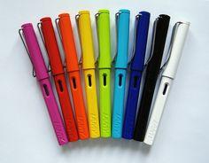 Lamy Safari Fountain Pen rainbow <3
