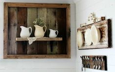 Check out our latest collection of DIY projects featuring 15 Eco-Friendly DIY Reclaimed Wood Craft Ideas For Your Home. Salvaged Wood Projects, Diy Wood Projects, Wood Crafts, Lathe Projects, Wood Display, Display Shelves, Plate Display, Wood Bathtub, Wood Rack