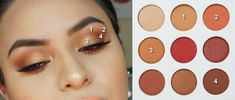 Makeup Ein Peachy Glam mit Kylie Burgundy Palette Hair: Every Woman's Crowning Glory Hair is often r Kylie Jenner Makeup Natural, Kylie Jenner Makeup Tutorial, Kylie Jenner Lipstick, Kylie Eyeshadow Palette, Eyeshadow Makeup, Eyeliner, Drugstore Eyeshadow, Fall Makeup Tutorial, Wedding Makeup Tutorial
