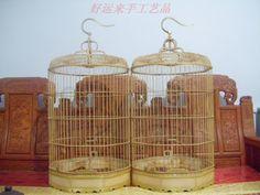 Antique cage haoyunlai bamboo bird cage handmade cage(China (Mainland ...