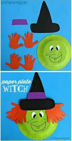 37 Creative Halloween Craft Ideas For Kids Toddlers Free Hand Print Witch Paper Craft Fun Amp Creative Diy Halloween Crafts For Kids Kids Crafts, Daycare Crafts, Classroom Crafts, Toddler Crafts, Kids Diy, Crafty Kids, Paper Craft For Kids, Autumn Crafts For Kids, Decor Crafts