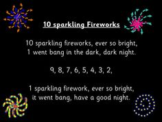 Number rhyme sung to the tune of 10 fat sausages. Watch as the Fireworks spin in to view, then one by. Fireworks Song, Fireworks Quotes, Fireworks Pictures, Wedding Fireworks, Happy Birthday Fireworks, Happy New Year Fireworks, Happy Birthday Video, 4th Of July Fireworks, Bonfire Night Activities