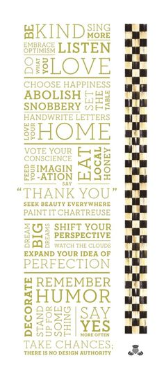 Hello Pinterest Pals!  Finally! Here is our new MacKenzie-Childs Home Manifesto…