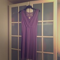Lavender summer dress Lacey back summer dress Dresses Midi