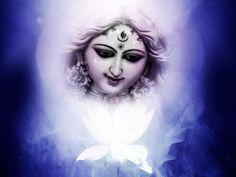 Beautiful Goddess Durga Statue Happy Navratri