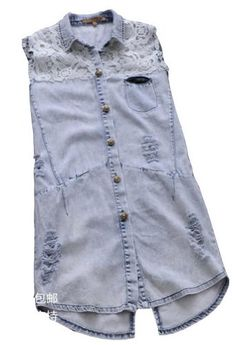 50% Off was $196.32, now is $98.16! Women's Hollow Worn Jeans Vest Size