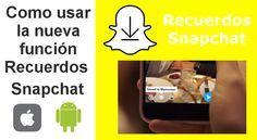 Nueva función Recuerdos de Snapchat permite guardar los Snaps de Videos y fotos en la aplicación para visualizarlos y compartirlos cuando tu quieras. Además también te permite protegerlos mediante contraseña. #Snapchat #Recuerdos #Memories #iOS #Android #Solomisojos #OnlyMyEyes #Snaps downloadsource.es