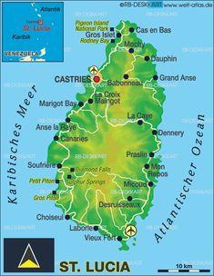 Handy map for navigating Rodney Bay Village Bay Gardens Beach