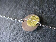 Bracelet gourmette *De fil en aiguille* -argent 925 et textile