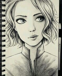 Ideas art sketchbook portraits character design for 2019 Pencil Art Drawings, Art Drawings Sketches, Cute Drawings, Drawing Faces, Best Drawing, Amazing Drawings, Beautiful Drawings, Amazing Art, Marvel Drawings