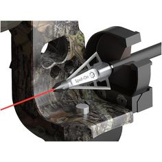 The Spot-On® Laser Broadhead is the industry's first Field Sighted Broadhead! The internal laser beam inside our patented broadhead, automatically activates at full draw with a simple bow mounted magnet.