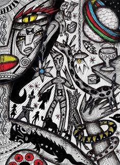 """Julia Sisi """"Tales of Saturn"""". Die Argentinische Künstlerin lebte lange in Spanien und seit 2013 in Frankreich"""