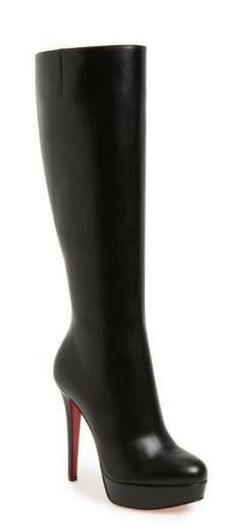 Christian Louboutin boots Shoe Collection, Heeled Boots, Christian Louboutin, Stockings, Purses, Heels, Fashion, Shoes, Boots