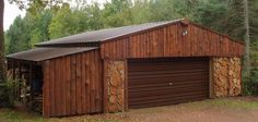 Cordwood garage/firewood shed