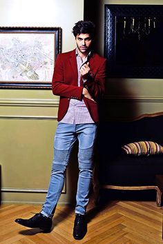 Red is definitely his color and I still can't fathom how someone can be this gorgeous! - Matthew Daddario