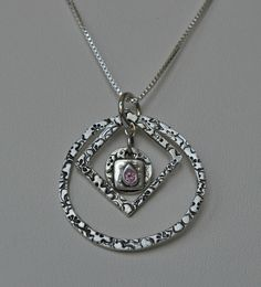 Circles and Squares  fine silver necklace by MelanieGuerra on Etsy, $90.00