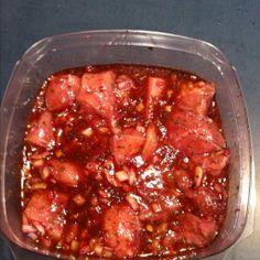 Great marinade for Lamb, beef, chicken, or pork - Souvlaki Recipe - Greek Meat Marinade