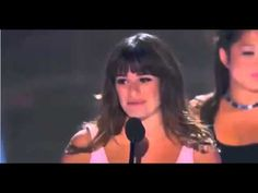 Lea Michele wins Teen Choice Awards 2013 - bless she is so brave.