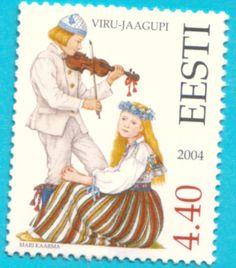 All* Estonian stamps: Estonian National Costumes. Viru County - Viru-Jaagupi
