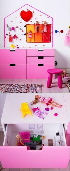 Ikea Stuva hacked in a dollhouse