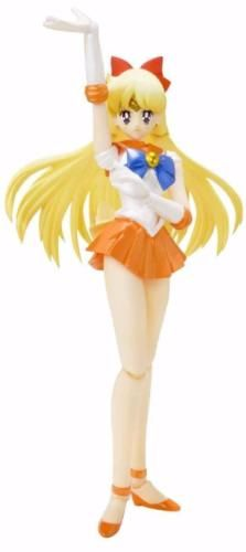 Continue your SH Figuarts collection of Sailor Moon figures! Sailor Venus comes to life as a highly detailed action figure measuring over 5 1/2-inches tall. Includes tons of accessories and interchangeable parts, plus the Sailor V mask! From Bandai Tamashii Nations. #bandai #toy #collectible