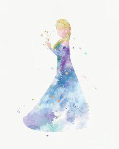 Frozen Mixed Media - Elsa by Monn Print