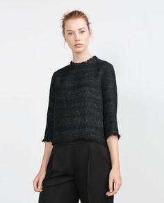 3/4 LENGTH SLEEVE TOP-View all-Tops-WOMAN   ZARA United States