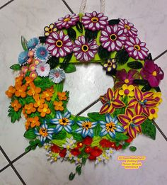 Quilling Flower Wreath