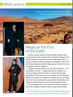 Aparición en Magic Magazine. Pag. 1. Estados Unidos