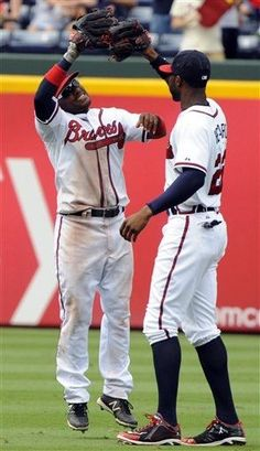 Braves in the outfield