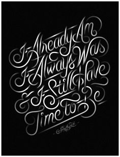 Typeverything.com - Already Am by Jordan Metcalf.