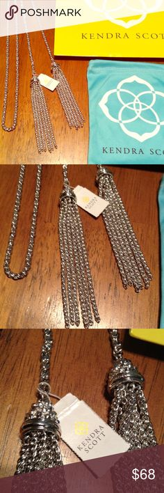 Kendra Scoot New with tags tassel necklace😍 Very trendy tassel necklace- Silver color - new condition - price is firm since it's new and already discounted Kendra Scott Jewelry Necklaces