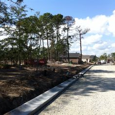Phase 2 curbs and roads development for #newhomesites sales in #GrandeDunes #MyrtleBeach