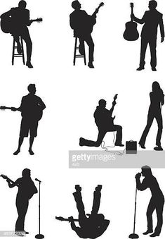 Musically talented people singing and playing. Singing, Silhouette, People, Movie Posters, Movies, Tattoo, Guitars, High Resolution Picture, Montages