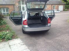 Empty car, ready for packing for the roadshows..