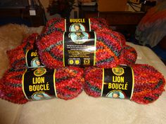 The Last 7 Skeins of Lion Brand Lion Boucle Yarn**LOW GIN**