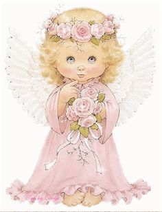 Little angel with flowers.gif