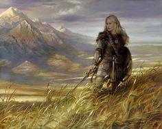 Random Fantasy/RPG artwork I find interesting,(*NOT MINE) from Tolkien to D&D. Das Silmarillion, O Hobbit, J. R. R. Tolkien, Shield Maiden, Wow Art, Gandalf, Legolas, Sci Fi Art, Lord Of The Rings