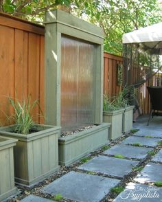 DIY Patio Water Wall